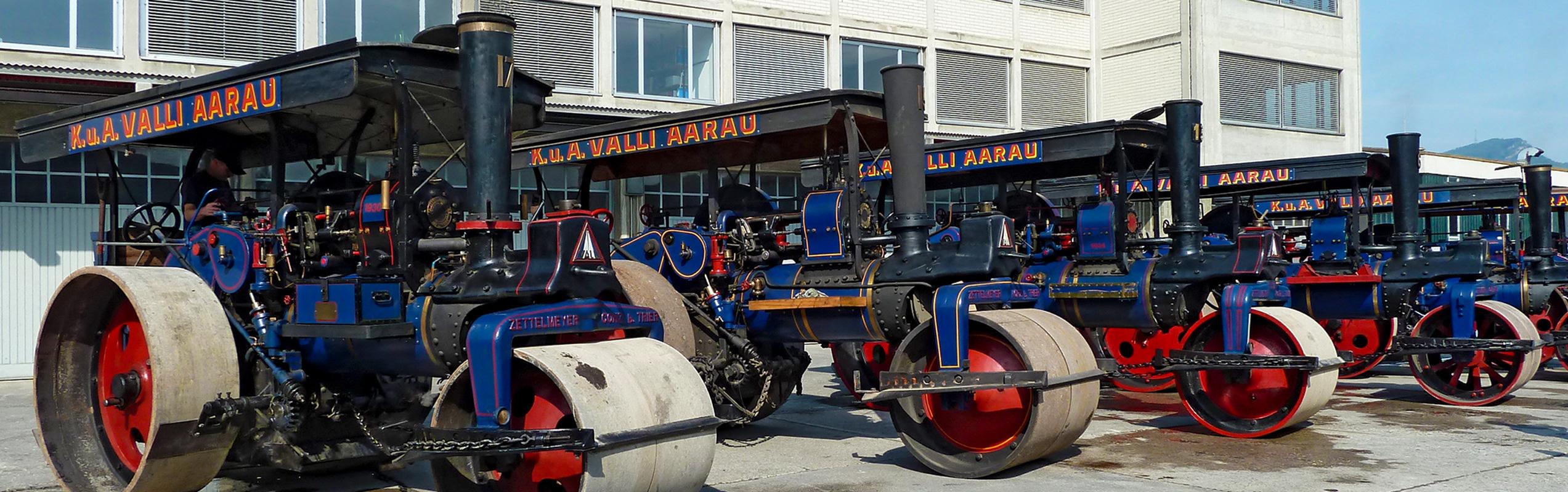Die Valli Strassenbau AG bei der Arbeit.